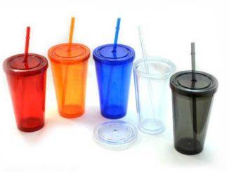 Plastic-glass