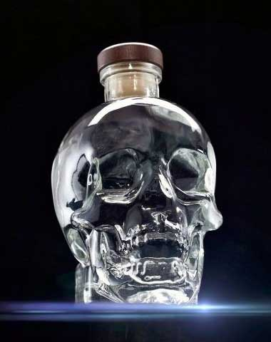 Skull-glass-bottle
